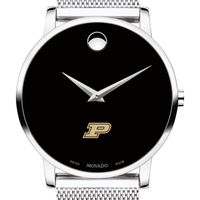 Purdue University Men's Movado Museum with Mesh Bracelet
