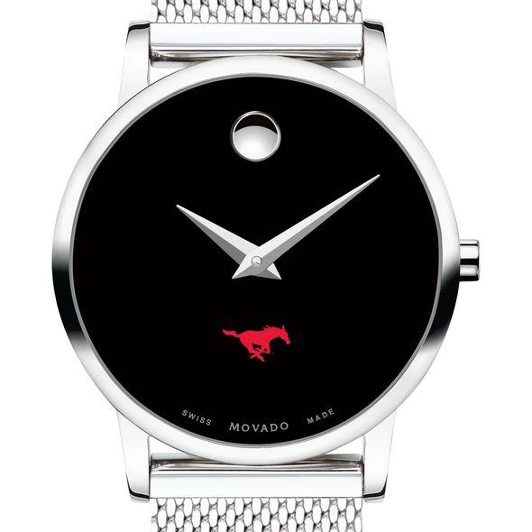 Southern Methodist University Women's Movado Museum with Mesh Bracelet