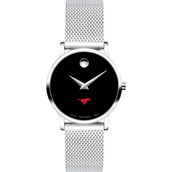 Southern Methodist University Women's Movado Museum with Mesh Bracelet - Image 2