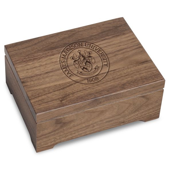 James Madison University Solid Walnut Desk Box
