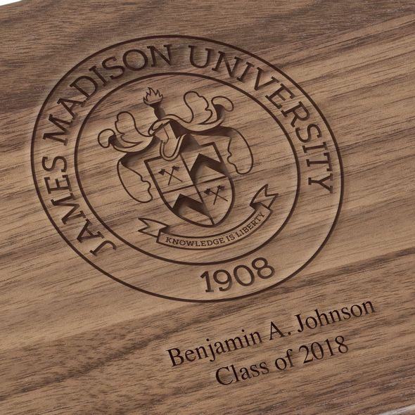 James Madison University Solid Walnut Desk Box - Image 3