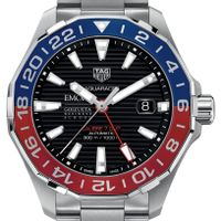 Emory Goizueta Men's TAG Heuer Automatic GMT Aquaracer with Black Dial and Blue & Red Bezel