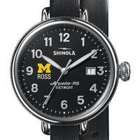 Michigan Ross Shinola Watch, The Birdy 38mm Black Dial