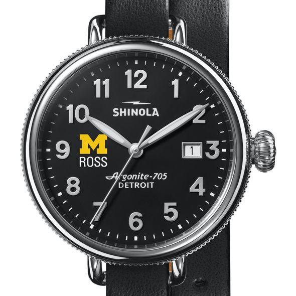 Michigan Ross Shinola Watch, The Birdy 38mm Black Dial - Image 1