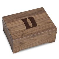 Duke University Solid Walnut Desk Box