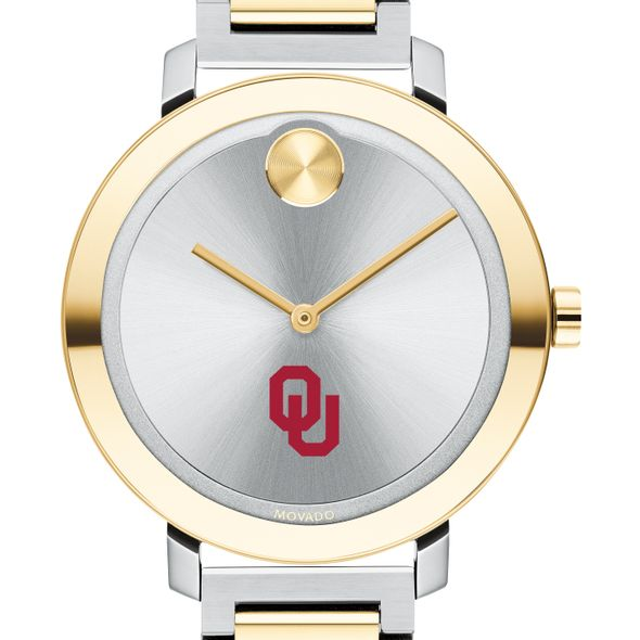 University of Oklahoma Women's Movado Two-Tone Bold 34