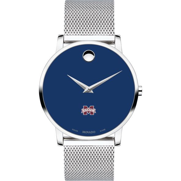 Mississippi State Men's Movado Museum with Blue Dial & Mesh Bracelet - Image 2