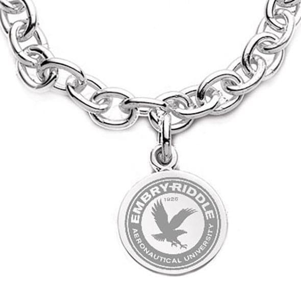 Embry-Riddle Sterling Silver Charm Bracelet - Image 2