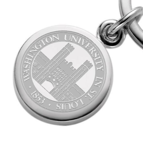 WUSTL Sterling Silver Insignia Key Ring - Image 2