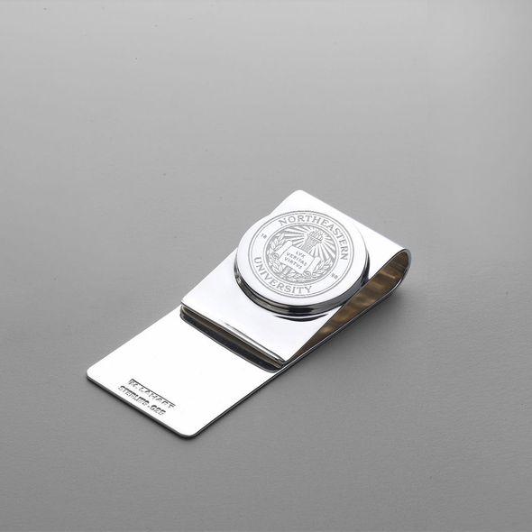 Northeastern Sterling Silver Money Clip - Image 1