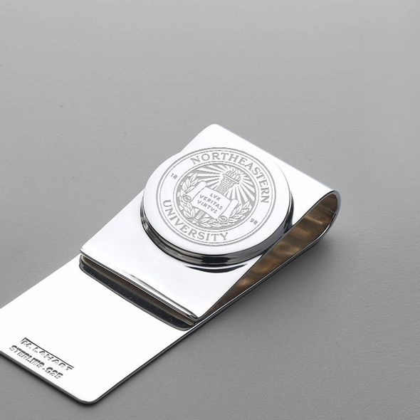 Northeastern Sterling Silver Money Clip - Image 2