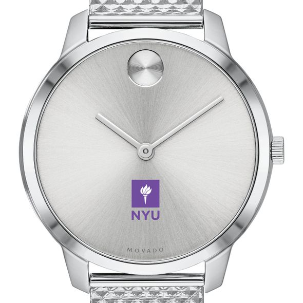 New York University Women's Movado Stainless Bold 35