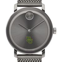 Baylor University Men's Movado BOLD Gunmetal Grey with Mesh Bracelet