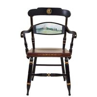 Hand-painted Clemson Campus Chair by Hitchcock
