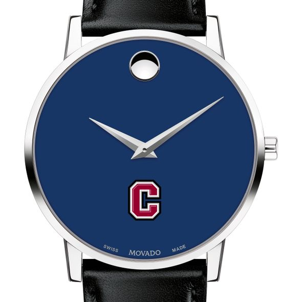 Colgate University Men's Movado Museum with Blue Dial & Leather Strap