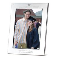 Christopher Newport University Polished Pewter 5x7 Picture Frame