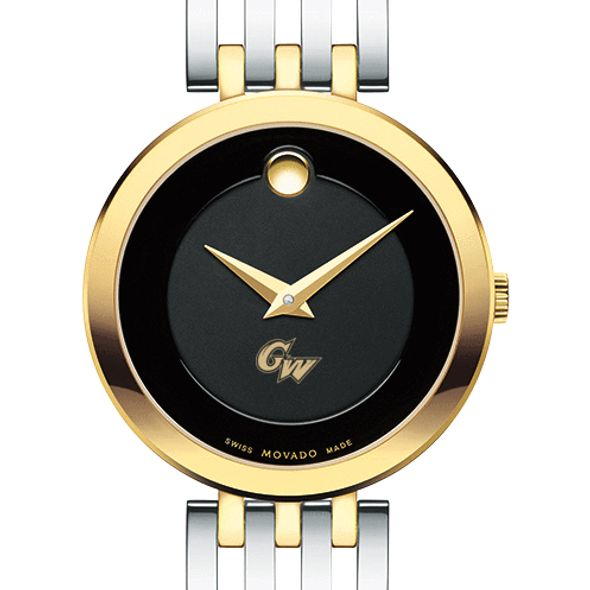 George Washington University Women's Movado Esparanza Two-Tone Museum with Bracelet