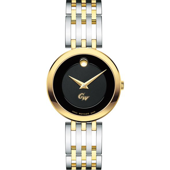 George Washington University Women's Movado Esparanza Two-Tone Museum with Bracelet - Image 2