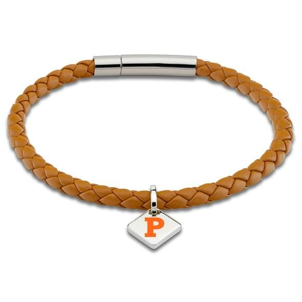Princeton Leather Bracelet with Sterling Silver Tag - Saddle