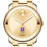 New York University Men's Movado Gold Bold