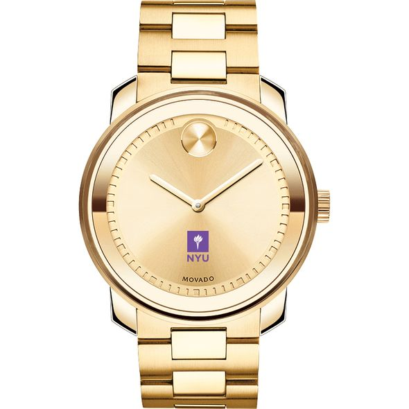 New York University Men's Movado Gold Bold - Image 2