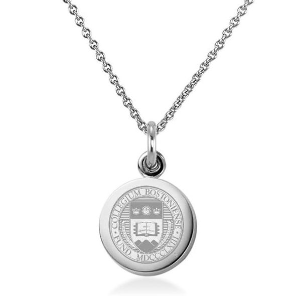 Boston College Necklace with Charm in Sterling Silver