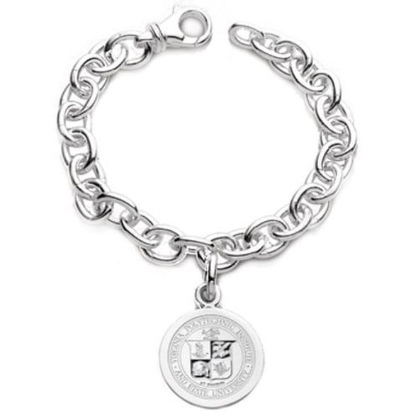 Virginia Tech Sterling Silver Charm Bracelet - Image 1