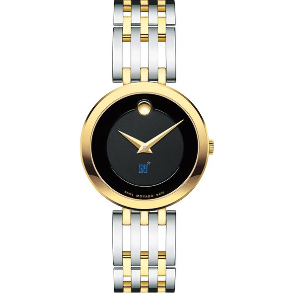US Naval Academy Women's Movado Esparanza Two-Tone Museum with Bracelet - Image 2