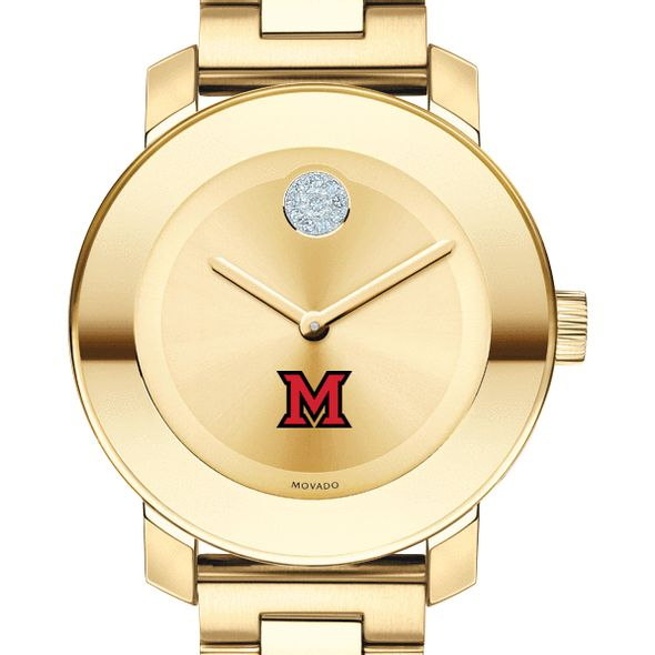 Miami University Women's Movado Gold Bold
