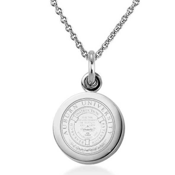 Auburn University Necklace with Charm in Sterling Silver