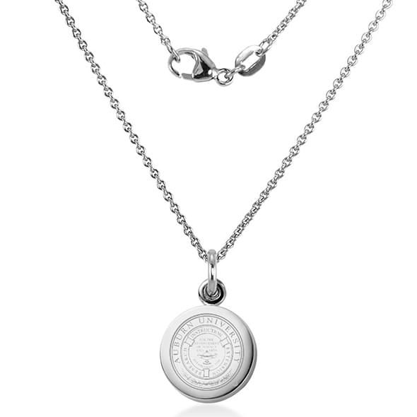 Auburn University Necklace with Charm in Sterling Silver - Image 2