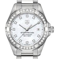 Texas McCombs Women's TAG Heuer Steel Aquaracer with MOP Diamond Dial & Bezel