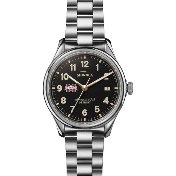 MS State Shinola Watch, The Vinton 38mm Black Dial - Image 2