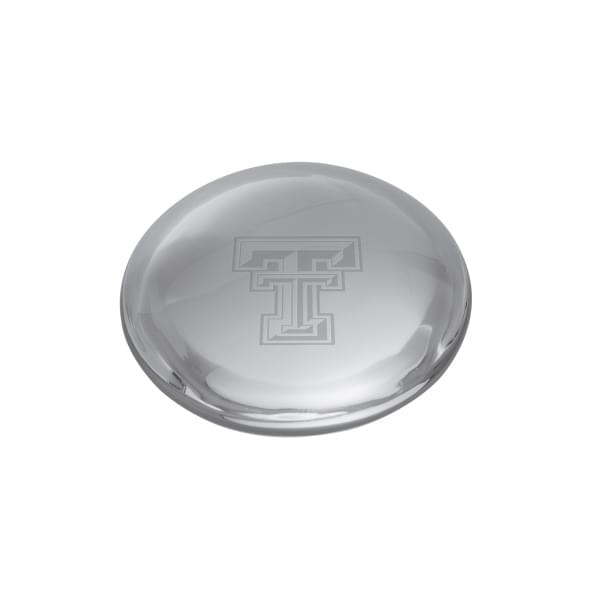 Texas Tech Glass Dome Paperweight by Simon Pearce