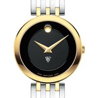 WashU Women's Movado Esparanza Two-Tone Museum with Bracelet