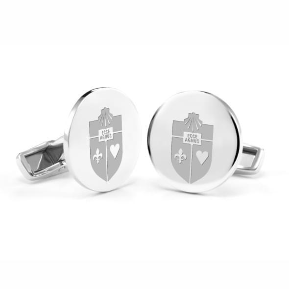 St. John's University Cufflinks in Sterling Silver