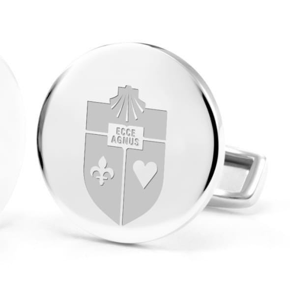 St. John's University Cufflinks in Sterling Silver - Image 2