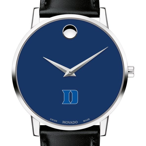 Duke University Men's Movado Museum with Blue Dial & Leather Strap