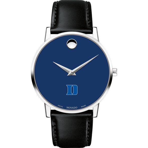 Duke University Men's Movado Museum with Blue Dial & Leather Strap - Image 2