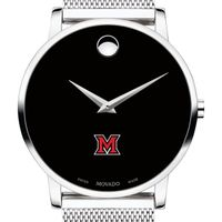 Miami University Men's Movado Museum with Mesh Bracelet