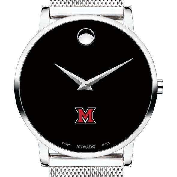 Miami University Men's Movado Museum with Mesh Bracelet
