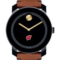University of Wisconsin Men's Movado BOLD with Brown Leather Strap