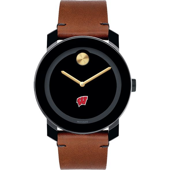 University of Wisconsin Men's Movado BOLD with Brown Leather Strap - Image 2