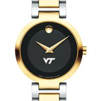 Virginia Tech Women's Movado Two-Tone Modern Classic Museum with Bracelet