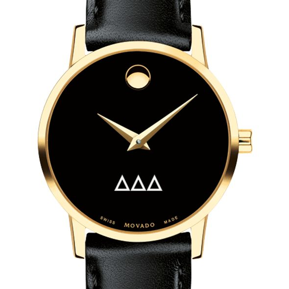 Delta Delta Delta Women's Movado Gold Museum Classic Leather