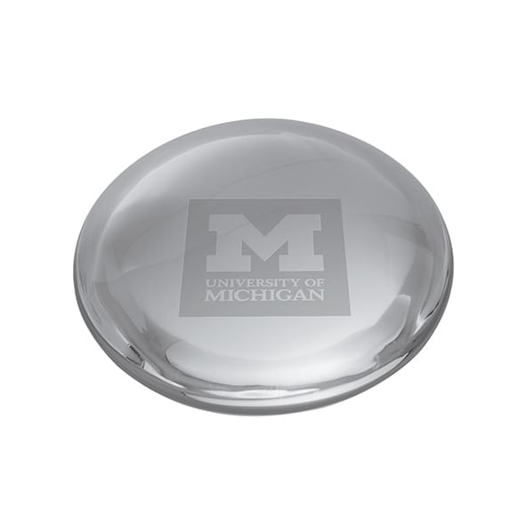 Michigan Glass Dome Paperweight by Simon Pearce