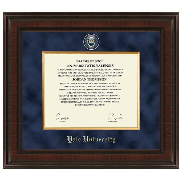 Yale Excelsior Diploma Frame - Image 1
