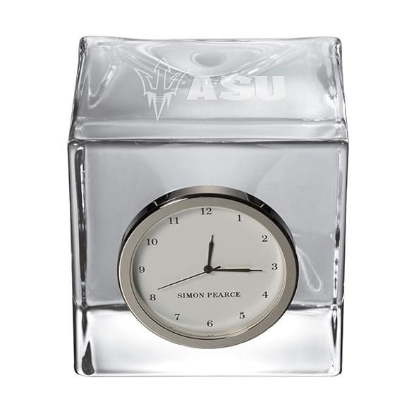 Arizona State Glass Desk Clock by Simon Pearce