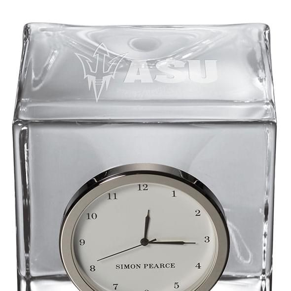 Arizona State Glass Desk Clock by Simon Pearce - Image 2