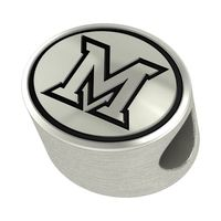 Miami University Enameled Bead in Black